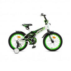 """Велосипед JETSET 16"""" JS-1601 (бело-зеленый)"""